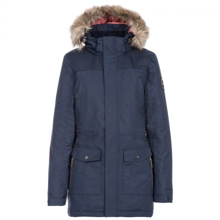 Rosario Women's DLX Waterproof Parka Jacket in Navy
