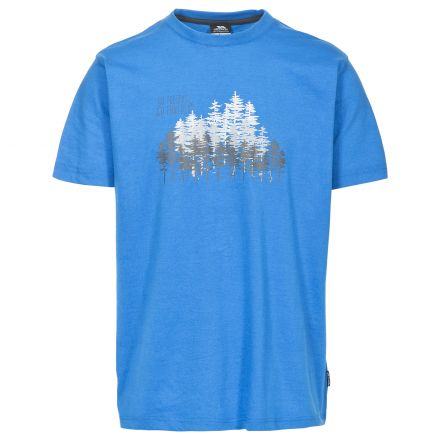 Router Men's Printed Casual T-Shirt in Blue