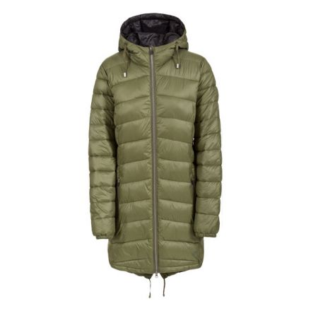 Ruin Women's Padded Casual Jacket in Khaki