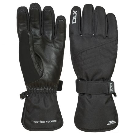 Rutger Adults' DLX Waterproof Gloves in Black