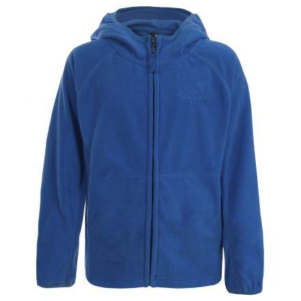 Rylan Boys Full Zip Microfleece Hoodie in Blue