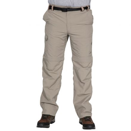 Rynne Men's Zip Off Cargo Trousers in Beige