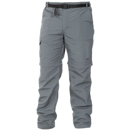 Rynne Men's Zip Off Cargo Trousers in Grey
