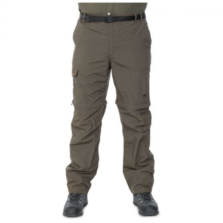 Rynne Men's Zip Off Cargo Trousers in Khaki