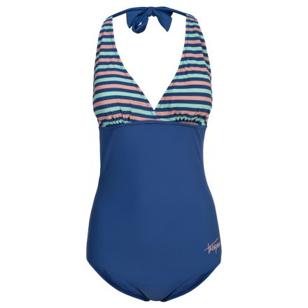 Sassy Women's Halterneck Swimming Costume in Blue