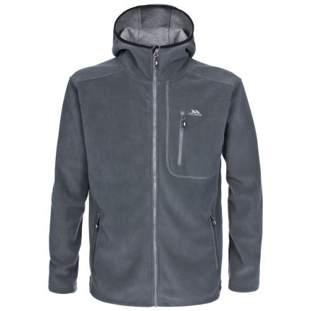 SELAGO Mens Full Zip Fleece Hoodie in Grey