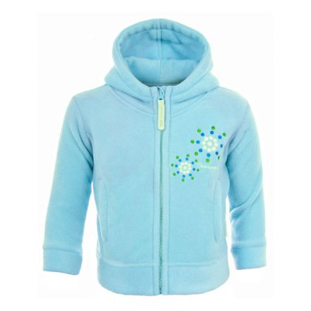 Shakira Babies' Full Zip Fleece Hoodie in Light Blue