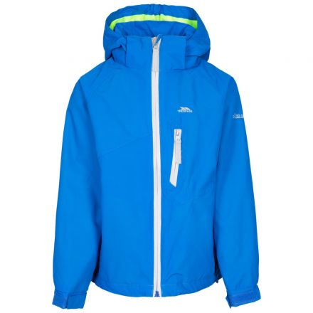Trespass Kids' Waterproof Detachable Hood Jacket Shinye - BLU
