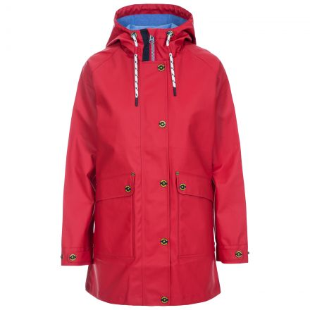 Shoreline Women's Waterproof Jacket in Red