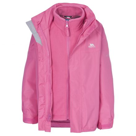 Skydive Kids' 3-in-1 Waterproof Jacket in Pink