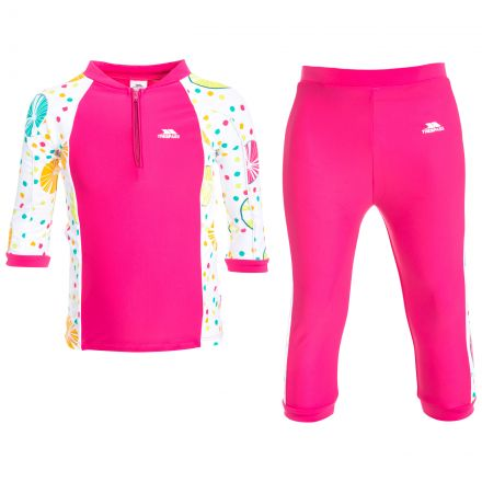 Smiley Kids' Swim Set in Pink