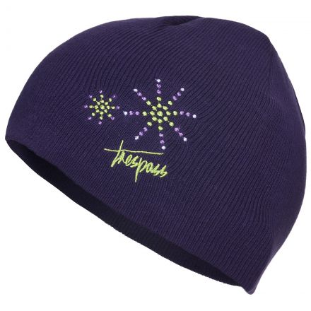 Sparkle Kids' Beanie Hat in Purple