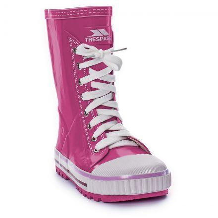 Splish Girls Pink Wellies in Pink