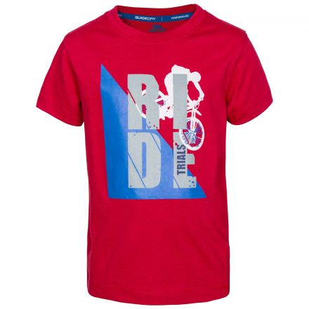 Stefano Kids' Printed T-Shirt in Red