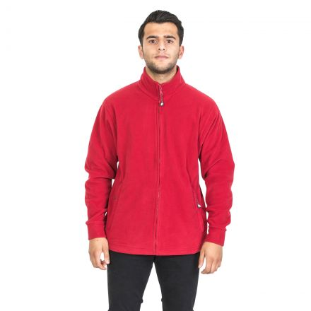 Strength Men's Fleece Jacket in Red