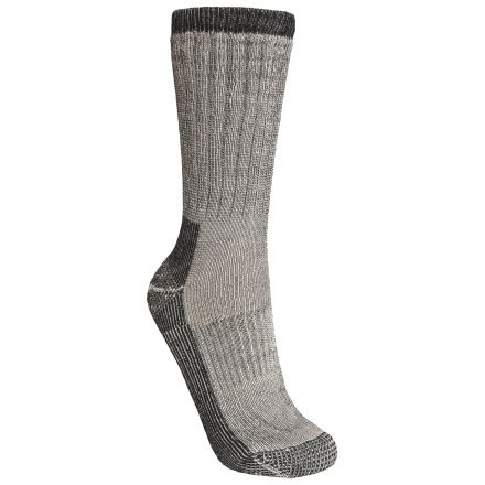 Stroller Men's Merino Wool Hiking Socks in Light Grey