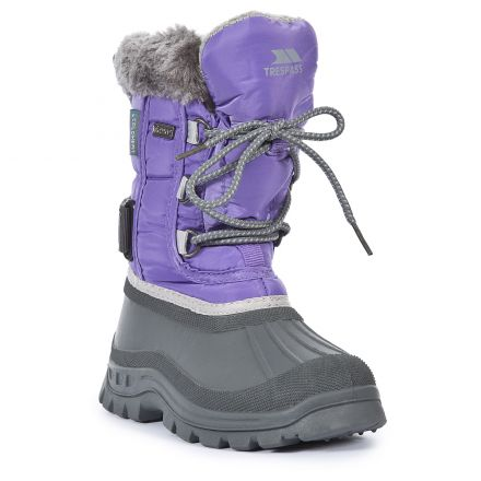 Stroma Girls Lace Up Snow Boots in Navy