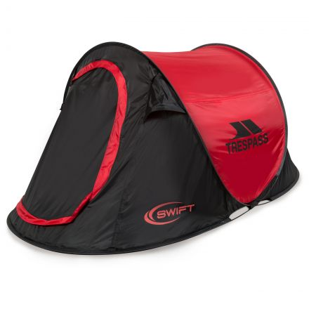 Swift2 Red Waterproof 2 Man Pop Up Tent
