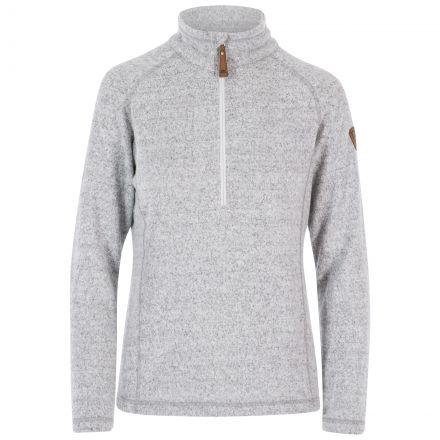 Tenderness Women's 1/2 Zip Fleece in Light Grey