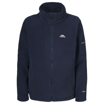 Teviot Kids' Full Zip Fleece Jacket in Navy