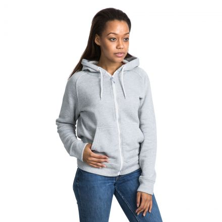 Thurman Women's Fleece Hoodie in Light Grey