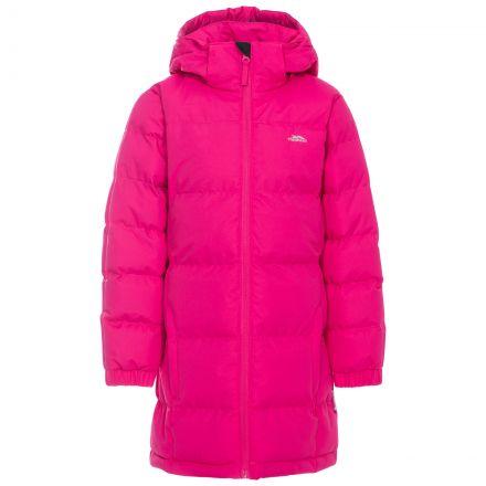 Trespass Girls Padded Jacket with Hood Tiffy Pink Lady