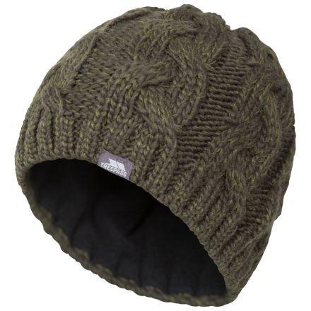 Tomlins Knitted Beanie Hat in Khaki