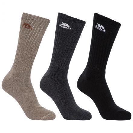 Torren Adults' Cushioned Walking Socks - 3 Pack in Assorted