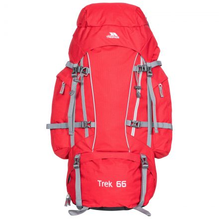 Trek 66L Rucksack in Red Tone