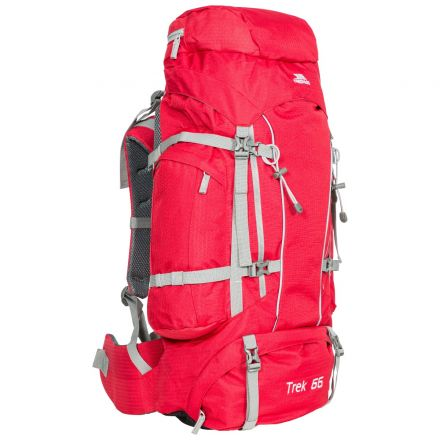 Trek 66L Rucksack in Red