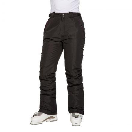 Tullow Women's Padded Waterproof Ski Trousers in Black, Back view on model
