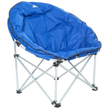 Tycho Padded Camping & Garden Folding Moon Chair in Blue