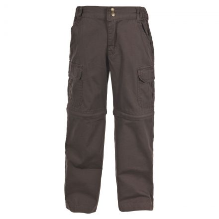 Layton Kids Convertible Cargo Trousers in Brown