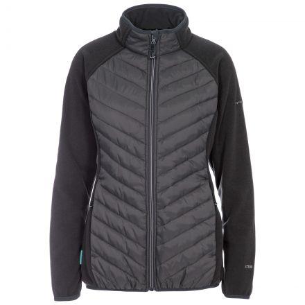 Underpinned Women's Quilted Fleece Jacket in Grey