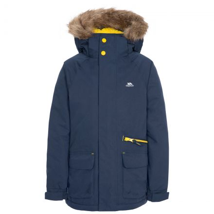 Upbeat Kids' Waterproof Parka Jacket in Navy
