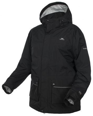 Utleyville Mens Black Waterproof Jacket in Black