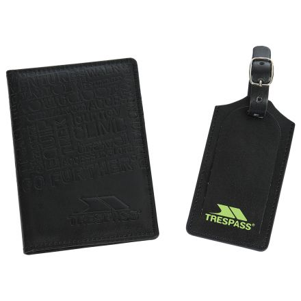Passport and Luggage Tag Set in Black