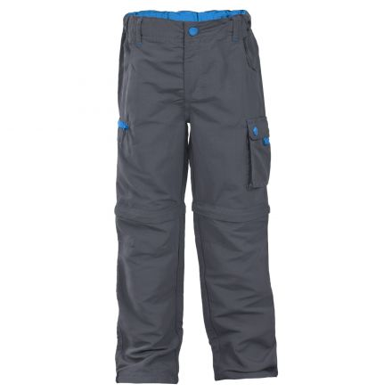 Wayfield Kids' Zip Off Cargo Trousers in Grey
