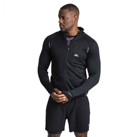 Whiten Men's Quick Dry Active Jacket in Black