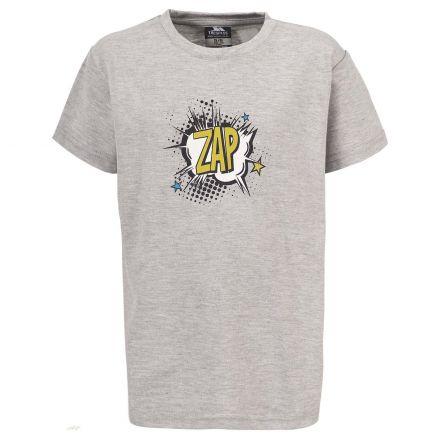 Zap Kids' Casual Printed T-shirt in Light Grey