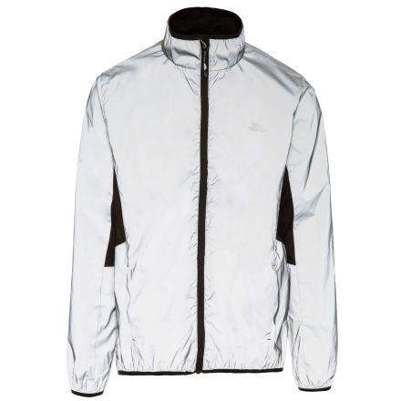 Zig Men's Ultra Reflective Active Jacket in Light Grey