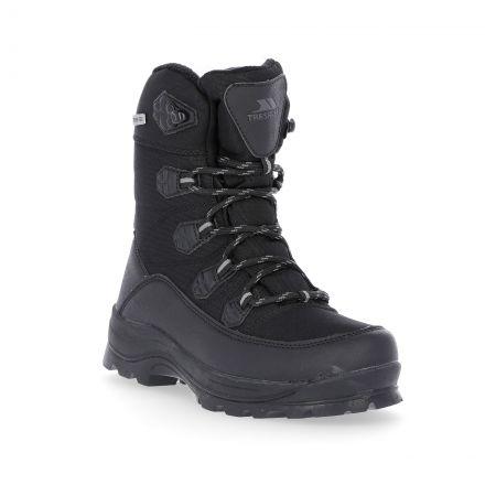 Zotos Boys' Fleece Lined Snow Boots in Black