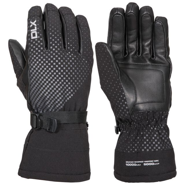 Alazo Adults DLX High Performance Ski Gloves in Black