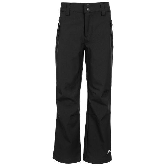 Aspiration Kids' Lightweight Softshell Trousers in Black