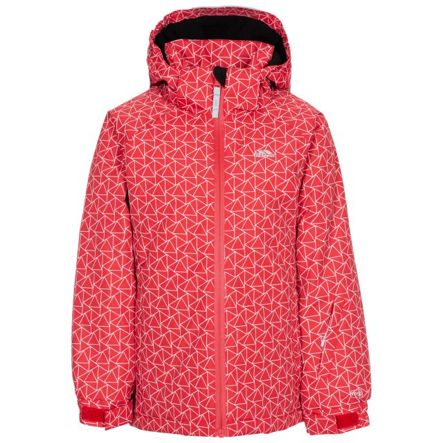 ASSURED - KIDS SKI JACKET in Red, Front view on mannequin
