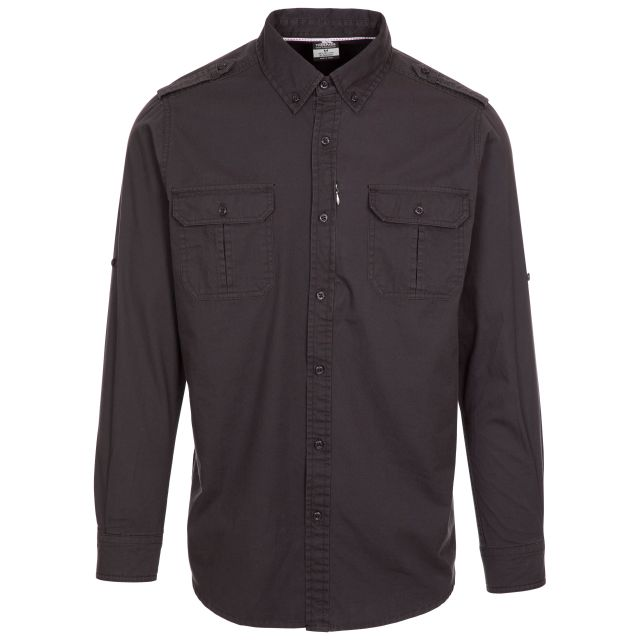Trespass Men's Button-up Shirt Ballardean Grey