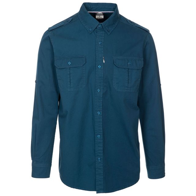 Trespass Men's Button-up Shirt Ballardean Midnight
