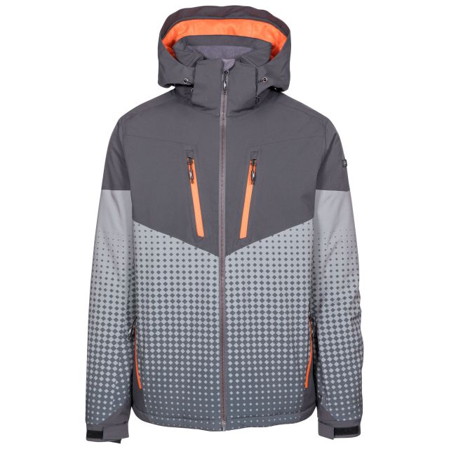 Bert Men's Waterproof Ski Jacket in Grey