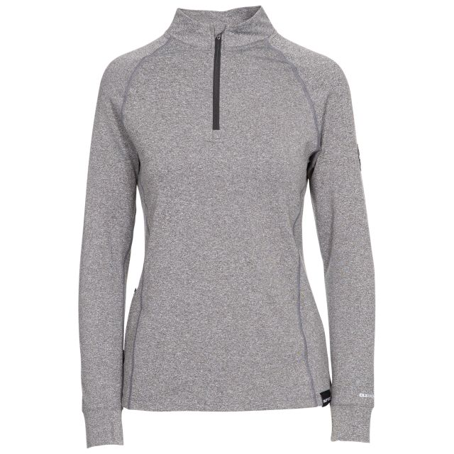 Briana Women's DLX Eco-Friendly Half Zip Active Top - GRM