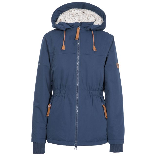 Trespass Womens Padded Jacket Fleece Lined Cassini Navy